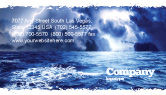 Nature & Environment: Royal Blue Sea Business Card Template #06725