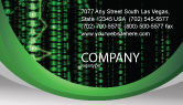 Telecommunication: Matrix Code Stream Business Card Template #06754