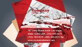 Construction: Abstract City Collapse Business Card Template #06774