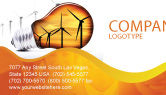 Careers/Industry: Energy Saving Technologies Business Card Template #06908