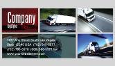 Cars/Transportation: Trailer Trucks Business Card Template #06923