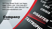 Financial/Accounting: Catastrophe Speedometer Business Card Template #06936