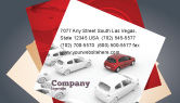 Cars/Transportation: Red Car Business Card Template #06951