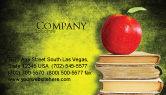 Education & Training: アップルと本 - 名刺テンプレート #06997