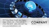 Technology, Science & Computers: Telecommunication Progress Business Card Template #07033