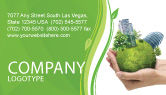 Nature & Environment: Green Habitat Business Card Template #07037