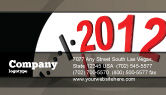 Holiday/Special Occasion: Time of 2012 Business Card Template #07252