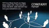 Telecommunication: Social Network Scheme Business Card Template #07390