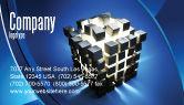 3D: Modèle de Carte de visite de concept des pièces en cubes #07391