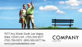 People: Old Couple Business Card Template #07405