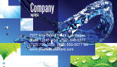 Nature & Environment: Blue Water Business Card Template #07546