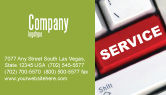 Careers/Industry: High-Tech Service Business Card Template #07549