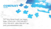 Consulting: Sky Puzzle Business Card Template #07563