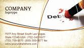 Financial/Accounting: Schuld Liquidatie Visitekaartje Template #07587