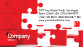 Consulting: Pieces Falling Apart Business Card Template #07624