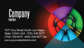 Consulting: Concept Pie Chart Business Card Template #07648