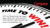 Consulting: Time to Win Business Card Template #07651
