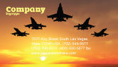 Military: Aircraft Parade Business Card Template #07701