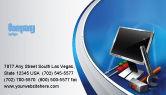 Utilities/Industrial: Computer Tech Help Business Card Template #07726