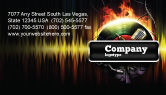 Careers/Industry: Music Energy Business Card Template #07740