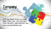 Consulting: Templat Kartu Bisnis Puzzle Dipecahkan #07757