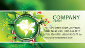 Nature & Environment: Blooming Earth Concept Business Card Template #07758
