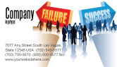 Education & Training: Failure and Success Business Card Template #07789
