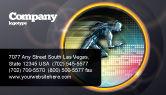 Sports: Running Iron Man Business Card Template #07928
