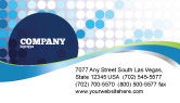Business: Dotted Blue Theme Business Card Template #07931