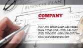 Consulting: Business Plan Analysis Business Card Template #08068