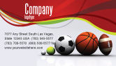 Sports: Sport Balls Business Card Template #08071