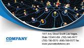 Technology, Science & Computers: Netwerkgemeenschap Visitekaartje Template #08199