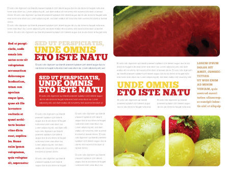 Fresh Fruits Of Summer Brochure Template Inner Page
