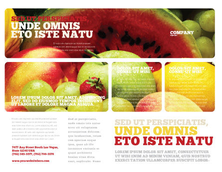 Fresh Fruits Of Summer Brochure Template Outer Page
