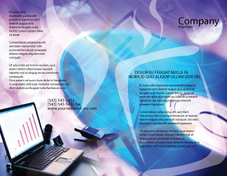 Multimedia Brochure Template, Outer Page, 00698, Technology, Science & Computers — PoweredTemplate.com