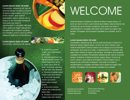 Banquet Brochure Template, Inner Page, 00725, Food & Beverage — PoweredTemplate.com