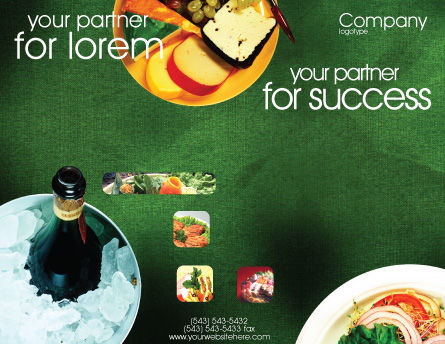 Banquet Brochure Template, Outer Page, 00725, Food & Beverage — PoweredTemplate.com