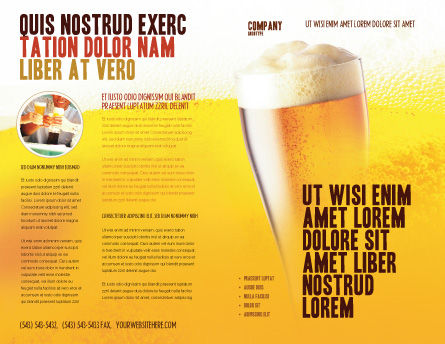 Beer Tumbler Brochure Template, Outer Page, 00750, Food & Beverage — PoweredTemplate.com