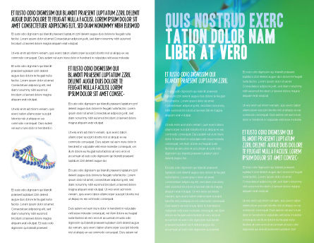 DNA Brochure Template, Inner Page, 00759, Technology, Science & Computers — PoweredTemplate.com