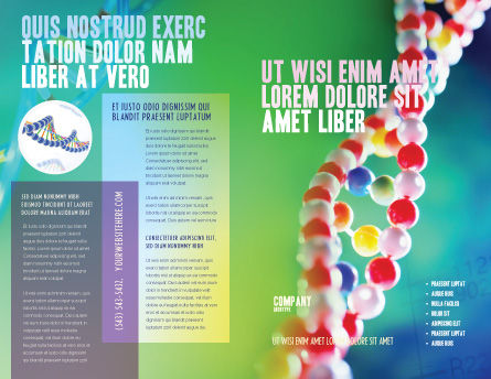DNA Brochure Template, Outer Page, 00759, Technology, Science & Computers — PoweredTemplate.com