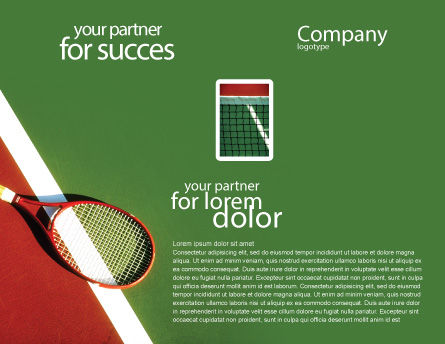 Tennis Rackets Brochure Template Inner Page