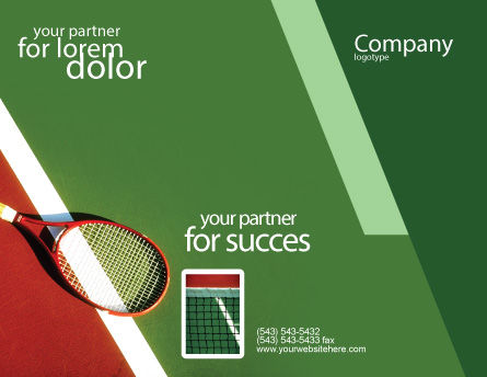 Tennis Rackets Brochure Template Outer Page