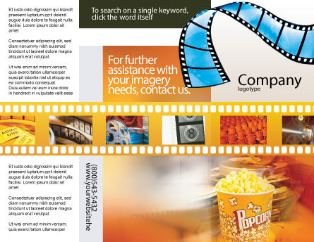 Popcorn Brochure Template Outer Page