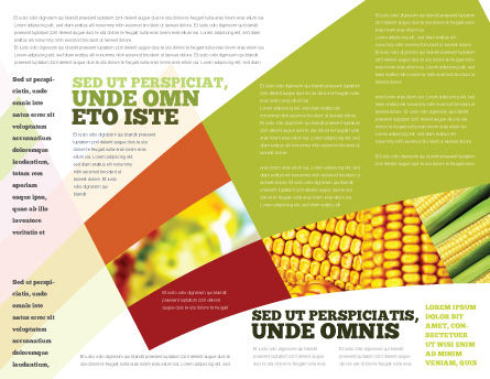 Maize Brochure Template, Inner Page, 00973, Food & Beverage — PoweredTemplate.com