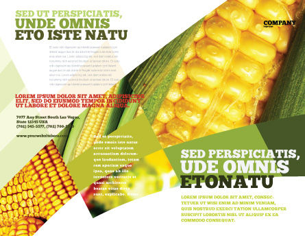 Maize Brochure Template, Outer Page, 00973, Food & Beverage — PoweredTemplate.com