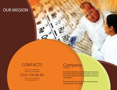 Chemical Research Brochure Template, Outer Page, 01028, Technology, Science & Computers — PoweredTemplate.com