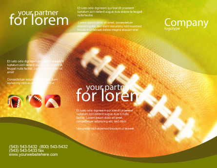 Ball Lacing Brochure Template Outer Page