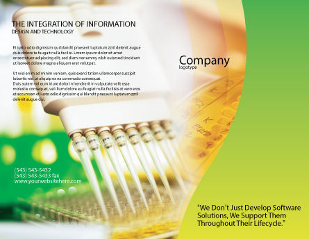 Lab Testing Brochure Template Outer Page