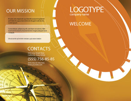Compass Brochure Template Outer Page