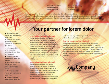 Cardiogram Brochure Template, Inner Page, 01359, Medical — PoweredTemplate.com